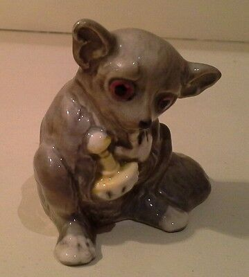 Beswick Bushbaby holding Rattle excellent condition