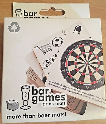 Bar Games Drink Mats 30 Different Party Games Students Dinner Party Free Uk P&p