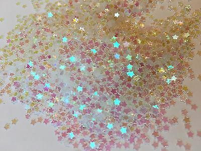 Iridescent Metallic Stars Sparkle Table Wedding Tiny Star Confetti Mini Clear