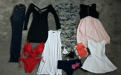 New bundle joblot womens clothes bodycon dresses, tops,jeans, lingerie- sz 8&10