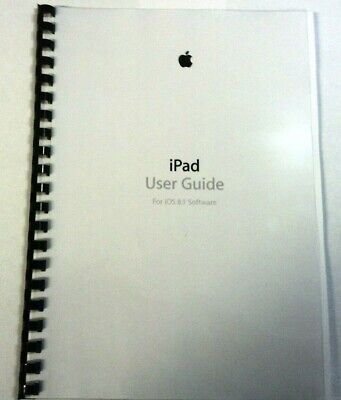 Apple Ipad Air 2 Ios 8.1 Printed Instruction Manual User Guide 164 Pages A5