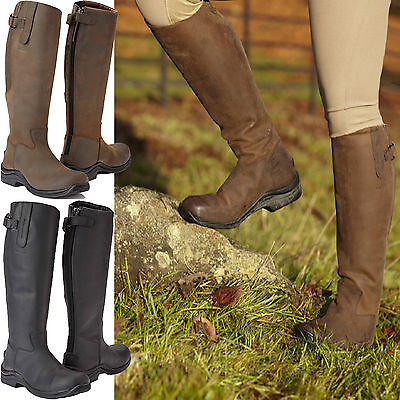 Toggi Calgary Waxed Long Leather Riding Country Boots - Choice of Size/Colour