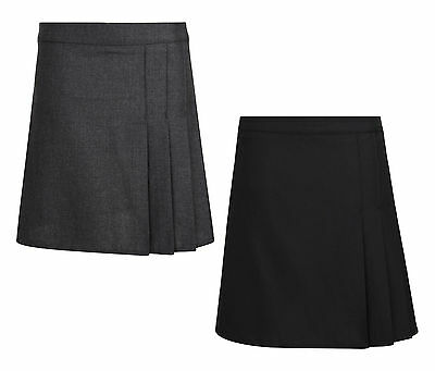 Girls School Skirt Bhs Rrp £11 Black Grey 4-15 Years Brand New