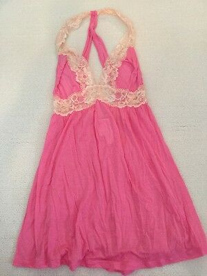 Victoria's Secret Pink Baby Doll Lingerie Sexy Make Nightgown S NWT