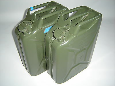2 Pcs METAL CANISTERS 20L JERRY CAN DIESEL TANK CANISTER Metal BW