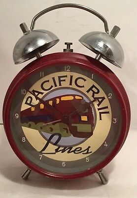 Pacific Rail Lines Alarm Clock - Battery Orerated - Good Condition- Works