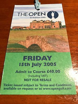 2005 Open Ticket Friday Tiger Woods Win NM