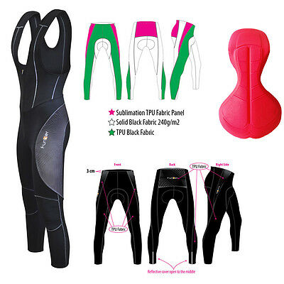 NEW Funkier Cycling TPU Thermal Bib Tights. Waterproof, Breathable Microfleece