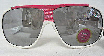 Barbie Childrens Sunglasses Ages 3+ White and Hot Pink