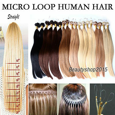 1G EASY LOOP EXTENSIONS DE CHEVEUX A FROID 100% NATUREL micro ring