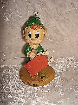 Marathon Elf Christmas Ornament  3rd In Set Of Six In Series 4 Building A Sled