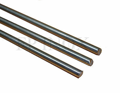 ( Lot de 3 ) Tube ROND PLEIN 8mm inox 304 Brut Long 1 mètre