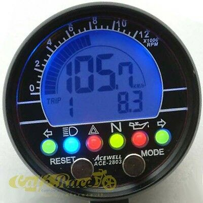 Tool odometer/rev counter Acewell ACE-2853S plastic black 000623