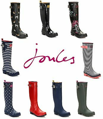 Joules Womens Wellies Wellington Boots Rubber Shoes - Various Colours & Sizes