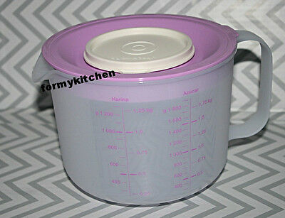 Tupperware Mix & Store Batter Bowl 8 Cup / 2 Qt Measuring Pitcher Lilac New