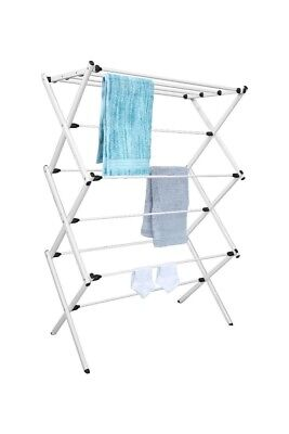 Tidy Living - Foldable Drying Rack White - Laundry Storage Organizer Solution