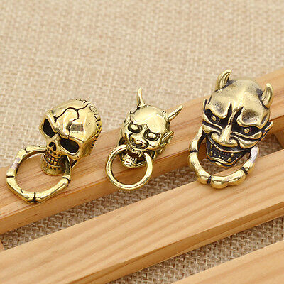Copper Rivet Stud Punk Screw Back Skull Hannya Shape DIY Leathercraft