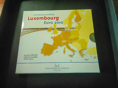 """LUXEMBURG LUXEMBOURG EURO COIN SET KMS 2010 + 2 EURO """"COAT OF ARMS"""" Stgl. BU"""