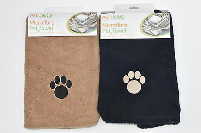 Microfibre Pet Drying Towel Dog,Cat Brown/Black!