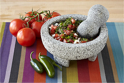 Spice Grinder Granite Stone Cuisinart Mortar & Pestle Guacamole Kitchen Bowl NEW