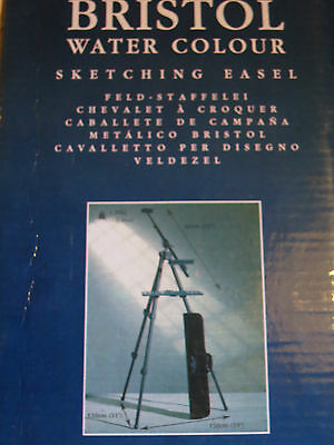 New Winsor & Newton Bristol Water Colour Tilting Sketching Easel In Case