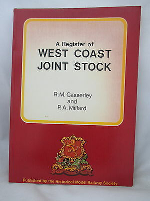 A Register Of West Coast Joint Stock. L&nwr. Caledonian. Lms Railway. Hmrs