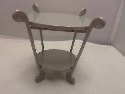 """American Girl Side Table Gray Plastic 6.5"""" tall"""