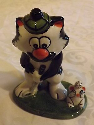 Lorna Bailey Golfing Cat FORE signed in black