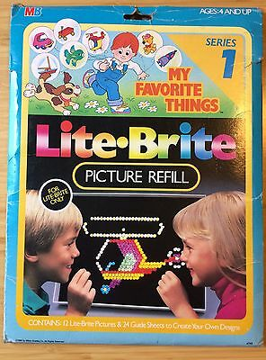 Vintage Lite-Brite•My Favorite Things•Series 1•Picture Refill Sheets