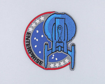 "PATCH TOPPA ""STAR TREK ENTERPRISE"" RICAMATA cm 7,5 x 8,5 TERMOADESIVA"