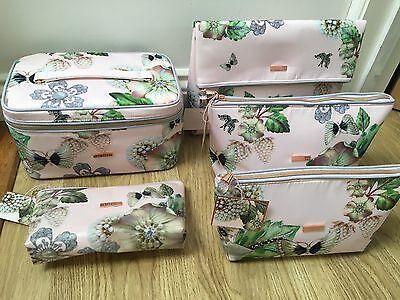 Ted Baker Beauty Wash bag Make Up Travel Large Small Floral Pearl New