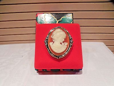Estee Lauder Peach Cameo Solid Perfume Compact-Without Scent--Boxed
