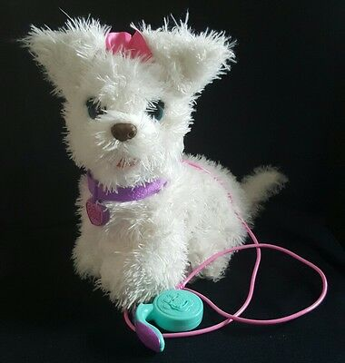 FurReal Friends Get Up GoGo My Walkin Pup White Dog Pet with Leash 2013 Hasbro