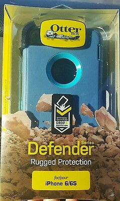 "New!! Otterbox Defender Case & Belt Clip Holster for Apple Iphone 6 6S (4.7"")"