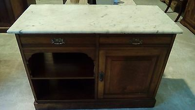 Lovely Antique Vintage Wash Stand with Marble Top