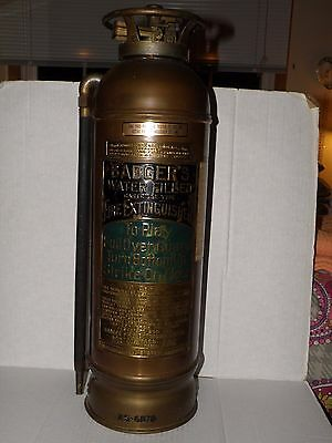 Antique Vintage Badger Water Filled Cartridge Type Fire Extinguisher Empty Exc.