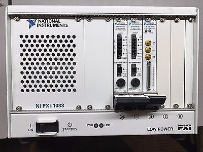National Instruments NI PXI-1033 CHASSIS w/ TWO PXI-4110 and ONE PXI-6541