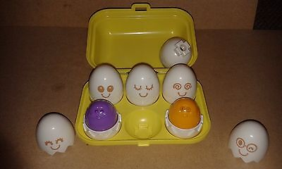Tomy Hide 'N' Sqeak Eggs Box Learn To Play Baby/Child Sorter Shape Activity Toy