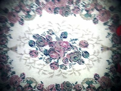 """American Alternative Rug By Polynaise 59"""" X 89"""" Pink With Roses Pattern"""