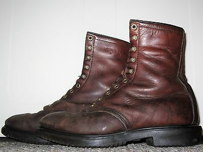 MENS VINTAGE 1970s RED WING BROWN LEATHER SPORT BIRD HUNTING WORK BOOTS SIZE 9 D