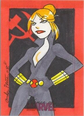 2008 Women of Marvel BLACK WIDOW sketch by Andy Price