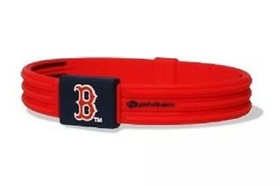 PHITEN TITANIUM Bracelet MLB BOSTON RED SOX Baseball RED Silicone Wristband
