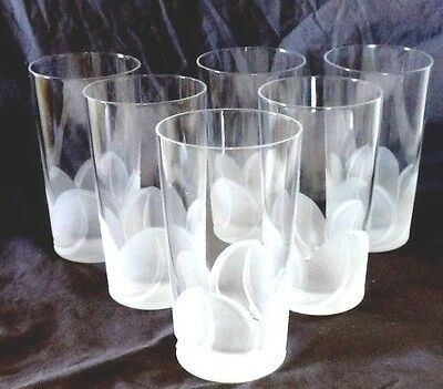 NOS Cristal D' Arques Durand Crystal Florence pattern 6 Highball cut glassware
