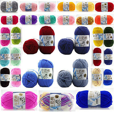 New Hand knitting Wool Milk soft Baby Cashmere yarn Lot of 50g skeins 83 Colors