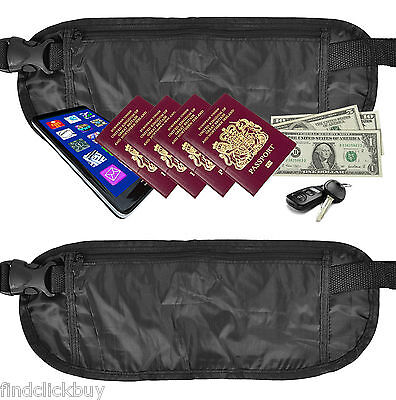 Concealed Waist Money Belt Bag Pouch Travel Wallet Money Passports Larger Size