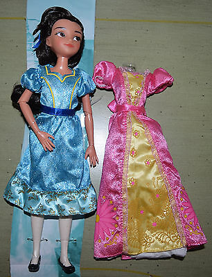 "Disney Store 10"" ISABEL DOLL Elena of Avalor w/ Extra Dress Gown Articulated"