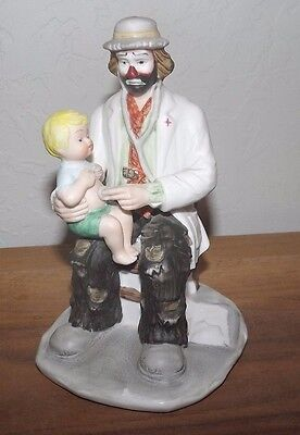 Emmet Kelly Jr Figurine Clown Doctor With Child On Lap