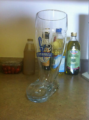 Steam Whistle Glass Beer Boot - 44oz - 1 litre collectable pilsner glass