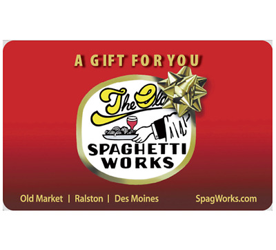 Spaghetti Works Gift Card - $25, $50 or $100  Email delivery