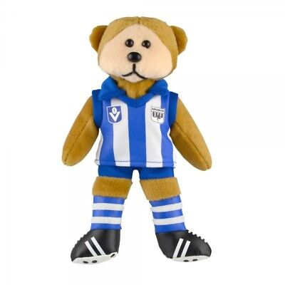 Nth Melbourne Kangas Heritage Player Bear  - Official AFL Beanie Kid 21cm